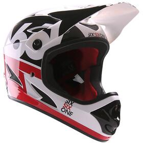 SixSixOne Comp Cykelhjelm rød/hvid